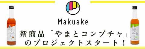 マクアケで新商品「やまとコンブチャ」のプロジェクトスタート!